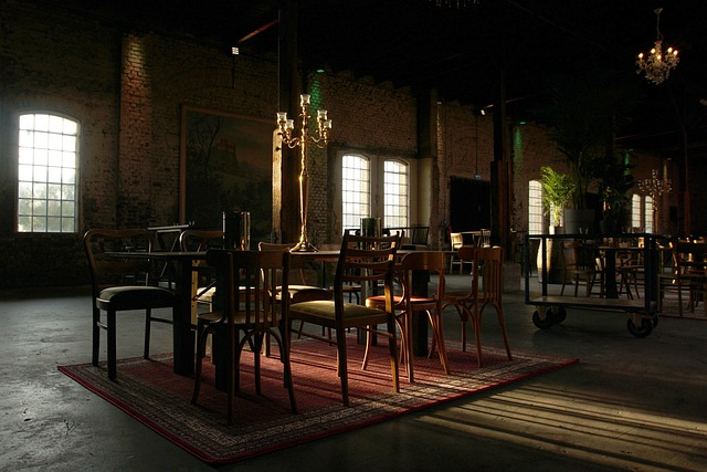 Kerzenleuchter Licht Vintage Tische Stühle